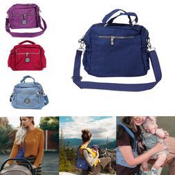 Women Lady Waterproof Nylon Shoulder Messenger Bag Large Cap