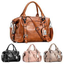Women Large Leather Handbag Tote Purse Messenger CrossBody T