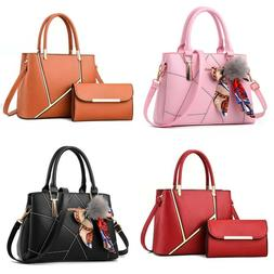 Women Leather Handbags Shoulder Bags Tote Purse Messenger Sa