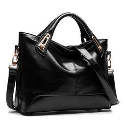 Women Leather Messenger Shoulder Bag Oil Wax Leather Satchel