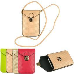 Women Leather Shoulder Crossbody Bag Phone Purse Buckle Case