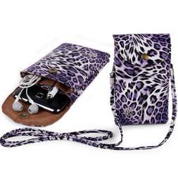 VanGoddy Women Leopard Printed Phone Crossbody Bag Clutch Fo