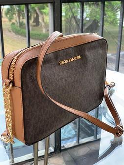 Michael Kors Women medium Large Leather Crossbody Handbag Ba