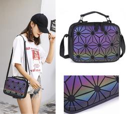women medium size holographic shoudler bag crossbody