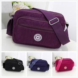 Women Messenger Bag Casual Waterproof Nylon Handbag Shoulder