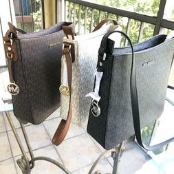 Michael Kors Women PVC Leather Messenger Crossbody Handbag P