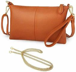 Women RFID Blocking Crossbody Bags Lightweight Leather Walle