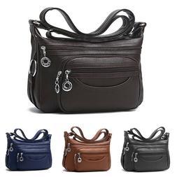 Women's Casual Purse Shoulder Handbags Soft Leather Satchel