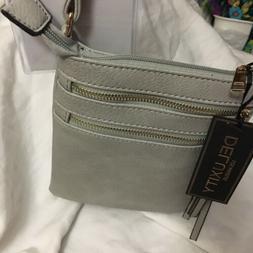 Women's Crossbody Bag Deluxity Nina Multi Zip Designer Purse