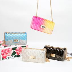 Women's Fashion Rainbow PVC Bag Shoulder Bag Crossbody Handb