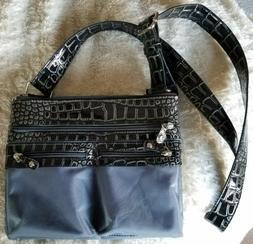 Women's Emilie Collection Gray Crossbody RFID Messenger Bag