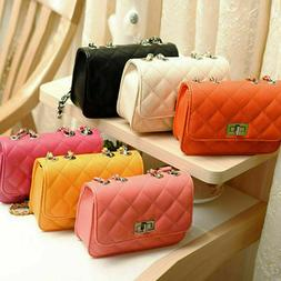 Women's Small Crossbody Handbag Quilted Purse Bag with Chain