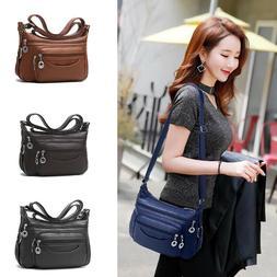 Women's Soft Leather Casual Purse Shoulder Handbags Satchel