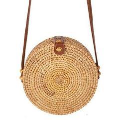 Women's Straw Bag Beach Rattan Shoulder BagWicker Bags Handb