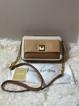 Michael Kors Women's Sylvia Leather Double Zip Crossbody Bag