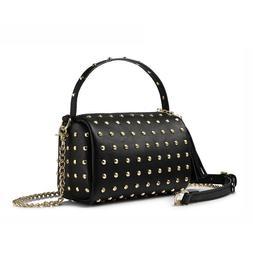 Women Shoulder Bag With Rivets Tassel Crossbody Mini Clutch