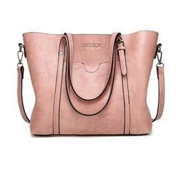 Women Shoulder Bags Vintage Handbag Tote Leather Boho Crossb