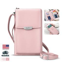 Women Small Crossbody Bag, ifab Cell Phone Purse Wallet w/Cr