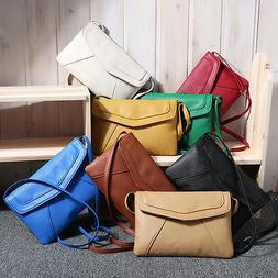 Women Small Crossbody Shoulder Bag Lady Faux Leather Messeng