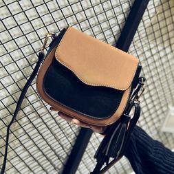 Women Trend handbag Retro flap shoulder bag Tassel woman Cro