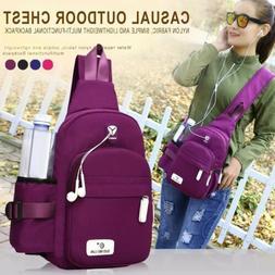 Women Waterproof Crossbody Shoulder Bag Traveling Backpack L