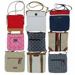Tommy Hilfiger Womens Crossbody Purse Nylon Shoulder Bag Log