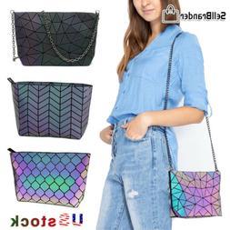 Womens Messenger Luxury Shoulder Bag Geometric Luminous Hand