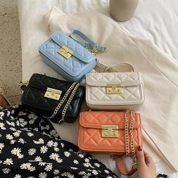 Womens Shoulder Bag Ladies Chain Strap Handbag PU Leather Sa